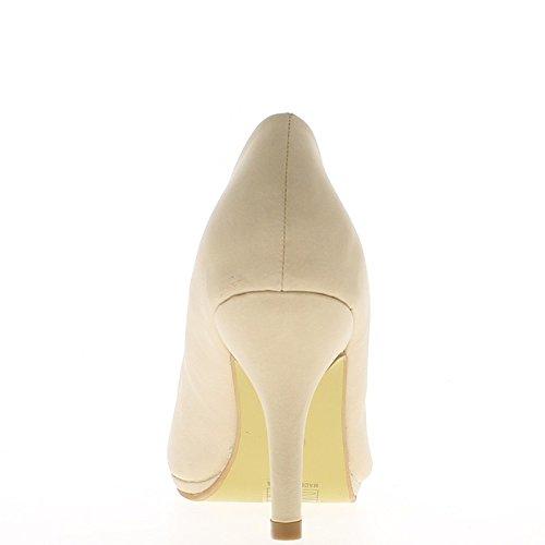 Zapatos mujer 8,5 cm punto amarillento del talón