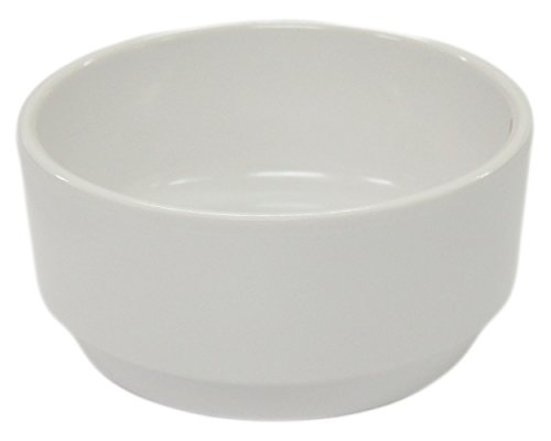 Show (Set of 4) Amatahouse Round Stackable Soy Sauce Dish Dipping Bowls Barbecue Accessories Ektra Melamine, White 3.5 inch #D2147 price