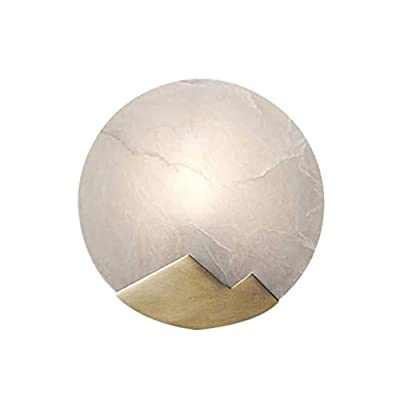 GUO XINFEN Brass Wall Lamp Creative Personality Bedroom Bedside Lamp Porch Living Room Background Wall Marble Lamps