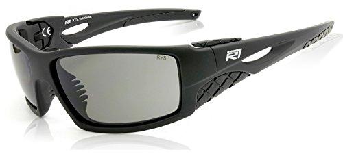 R7 Safety Wrap-Around ANSI Sunglasses Z87.1+ Premium Eye Protection Bait Master by Rio Ray Optics