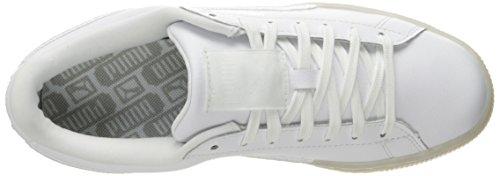 Puma Cestino Sneaker Puma Classico Distintivo Della Moda Ghiacciata Bianco