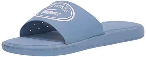 Lacoste Women's L.30 Slide Sandal Light Blue/White, used for sale  Delivered anywhere in Canada