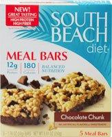 South Beach Diet Meal Bar, morceaux de chocolat, 1,76 once, 5 comte