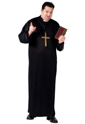 Fun World Priest Plus Size Costume, Black, Plus -