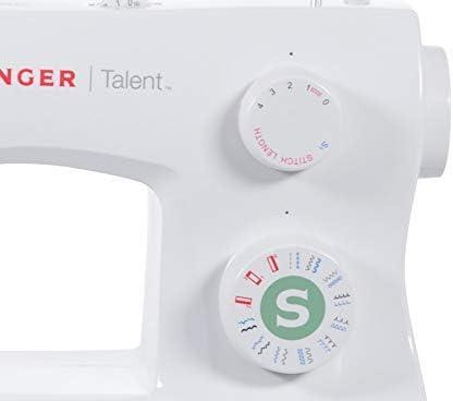 Singer Talent 3321 Máquina de Coser, Blanco, 45,7 x 22,2 x 35,6 ...
