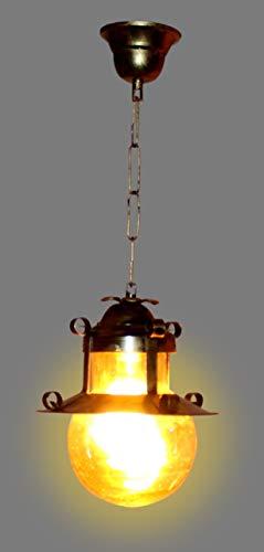 Imper!al Hanging Pendant Doom Ceiling Light and Lamp, Golden Antique