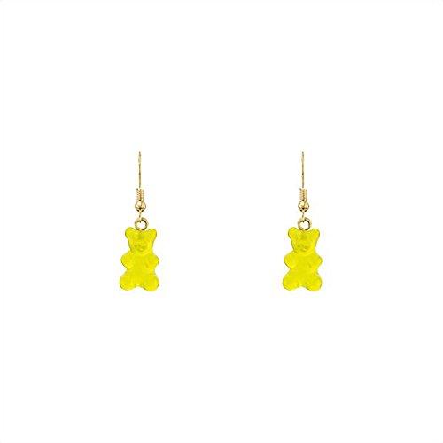 Snatch QQ Gummy Bear Handmade Earrings - (Plastic Yellow Earrings)
