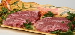 USDA Prime American Lamb Shoulder Blade Chops, Cut: 1 inch (Pack of 2) (Usda Prime American Lamb)