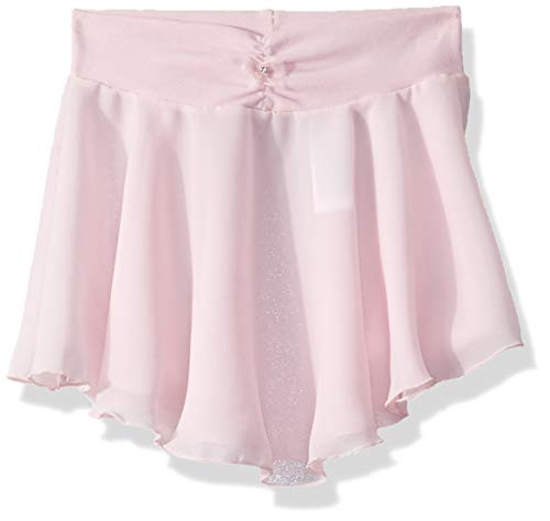 (Capezio Big Girls' Pull-On Georgette Skirt, Pink, Medium)