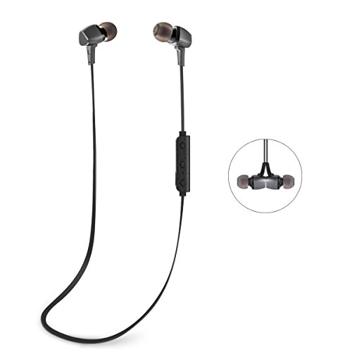 Bluetooth Headphones GJT®BTH-600 Wireless Bluetooth Headsets Noise Cancelling Earphones with Magnetic Attraction(GREY)