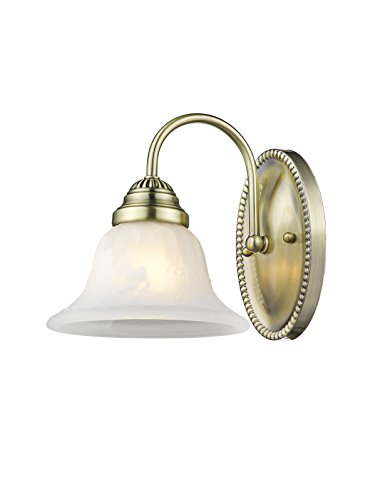 Livex Lighting 1531-01 Edgemont 1-Light Bath Light, Antique Brass ()