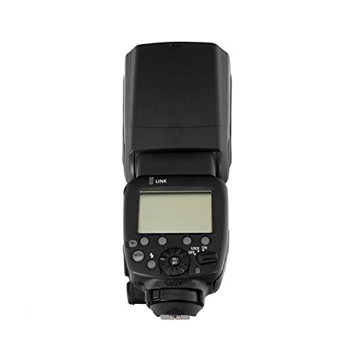Aperous Camera Flash Speedlite / Canon / 2.4G Wireless / 4 AA batteries / Digital SLR Camera / LCD Display by Aperous