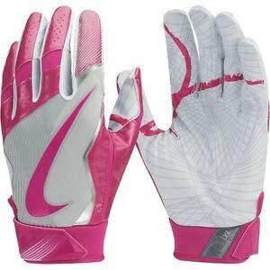 Nike Youth Vapor Jet 4.0 BCA Receiver Gloves, Pink-White-Gray, Size Youth Medium