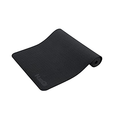 """HuaQi Memory Function Yoga Mat With Carrying Strap - 1/4""""Thick Non-Toxic SGS certified Double Side Non Slip Eco-Friendly -TPE Material The Latest Technology - Improve Your Bikram and Hot Yoga"""