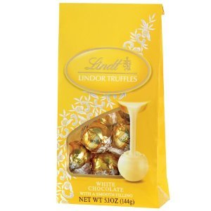 Lindt Lindor Truffles White Chocolate with Smooth Filling 5.1 Oz , PAK of 2