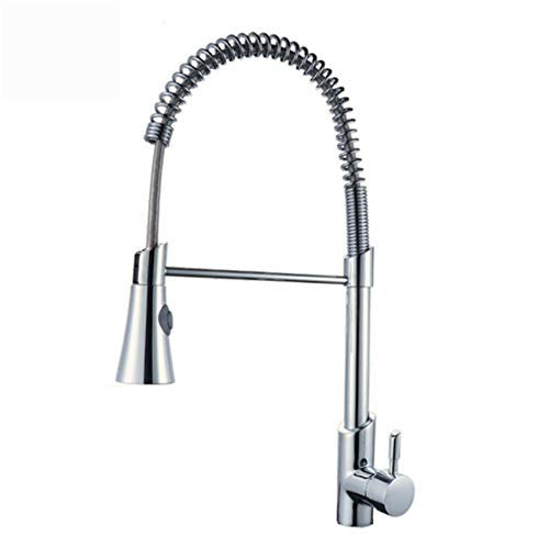CFHJN HOME Taps Copper Kitchen Water Sink Faucet Hot And Cold Single Hole Mixing Faucet redating Pull Spring Faucet