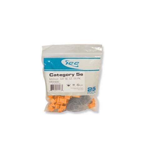 "Icc - Ic107e5cor - 25Pk Cat5 Jack - Orange ""Product Category: Installation Equipment/Wall"