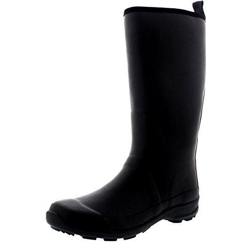 Womens-Contrast-Sole-Tall-Rubber-Muck-Winter-Snow-Outdoor-Wellies-Boots