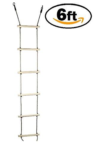 6 ft Kids Climbing Rope Ladder – スイングセットアクセサリー& Playセットの添付ファイルChildren Swingset B075689MT9
