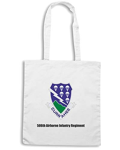 Speed Shirt Borsa Shopper Bianca TM0363 6TH AIRBORNE INFANTRY REGIMENT USA