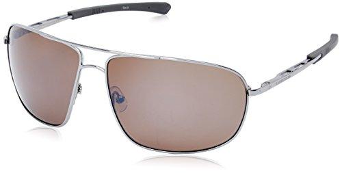 Gargoyles Shindand Polarized Aviator Sunglasses, Light Gun,Brown & Silver, 64 - Sun Gargoyle Glasses