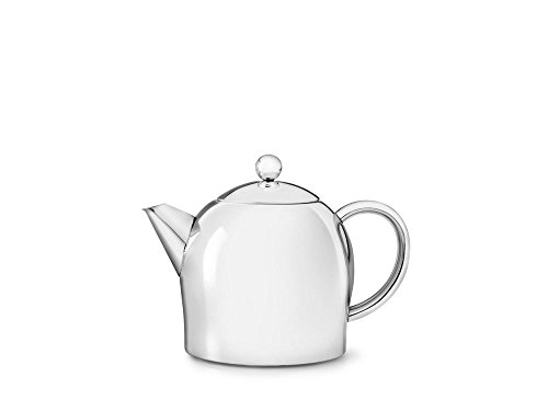 Teapot Glossy - bredemeijer Santhee Double Walled Teapot, 0.5-Liter Stainless Steel Glossy Finish with Glossy Accents