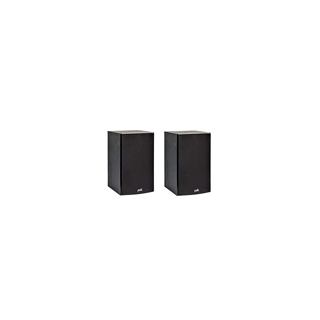 Polk Audio T15 100 Watt Home Theater Bookshelf Speakers (Pair) – Premium Sound at a Great Value | Dolby and DTS Surround | Wall-Mountable