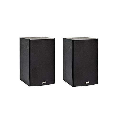 Polk Audio T15 100 Watt Home Theater Bookshelf Speakers (Pair) - Premium Sound at a Great Value | Dolby and DTS Surround | Wall-Mountable