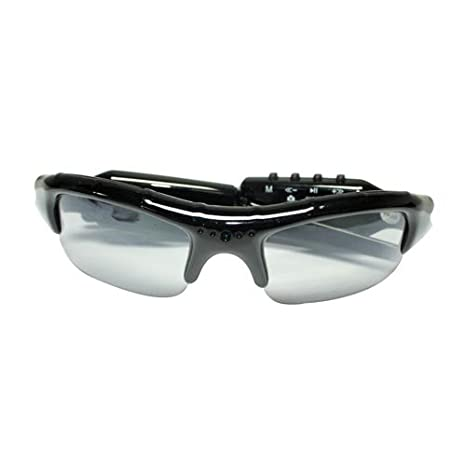 FLY-SHOP@ Gafas de Sol con cámara espía/ Gafas musical/ Audio Video Recorder/ Mini DVR + Mp3 ...