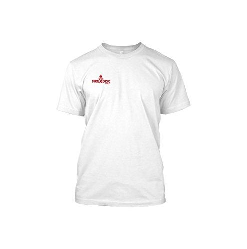 FireDisc - Short Sleeve Medium White T-Shirt - Backyard P...