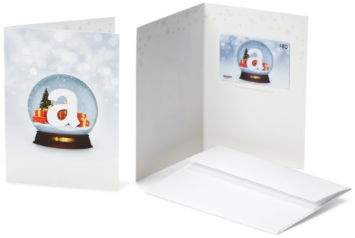 Amazon.com $80 Gift Card in a Greeting Card (Holiday Globe - Stores Wish Card Gift
