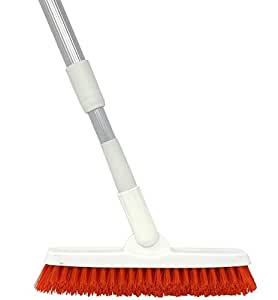 Grout Brush with Long Handle - Extendable Telescopic Handle - Kitchen   Shower   Tub   Tile Scrub Brush by Foxtrot Living