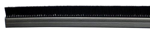Tanis Brush FPVC141036 Stapled Strip Brush with Flexible PVC, H-Shaped Profile, Black Nylon Bristles, 3' Overall Length, 1