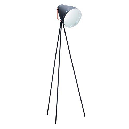 1-Blk Grigsby Floor Lamp with Sand Textured Black (Blk Black Floor Fixtures)