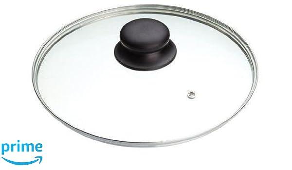 B & F vidrio templado cazo cacerola sartén tapa (14 cm, 16 cm, 18 cm, 20 cm, 22 cm, 24 cm, 26 cm, 28 cm, 30 cm, 32 cm,) tapas de repuesto para sartenes y ...