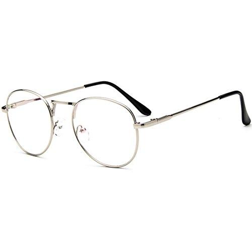 D.King Clear Lens Eyeglasses Metal Frame Retro Vintage Fashion Unisex Glasses - King 5 Sunglasses