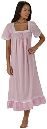 - The 1 for U 100% Cotton Short Sleeve Nightgown - Evelyn (Small, Pink Butterfly)