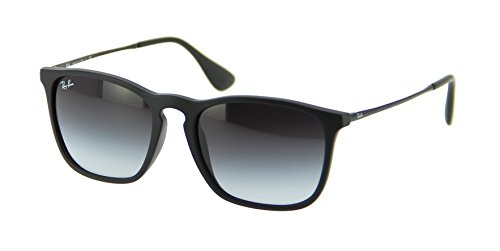 Ray-Ban Rubber Black Sunglasses RB 4187 622/8G 54mm + SD Glasses + Cleaning - Ban Ray 4187