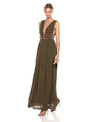 Beading French Dress Hasan Green Military Women's Connection w1qT1Pt