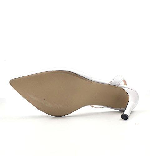Azmodo Womens Dorsay Style Pumps A Spillo Classiche Scarpe A Spillo X5-6