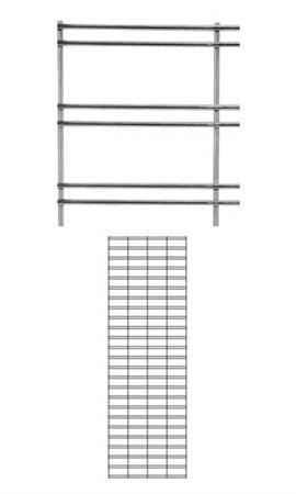 2 x 6 Foot Chrome Slat Grid Panel - 3'' on Center ¼'' Thick