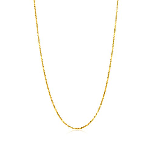 Stainless Steel 2mm Box Chain Necklace (Gold Plated) - 7