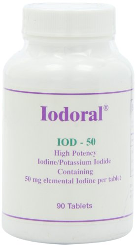Optimox - Iodoral 50mg, High Potency Iodine/Potassium Iodide Thyroid Support Supplement, 90 tablets