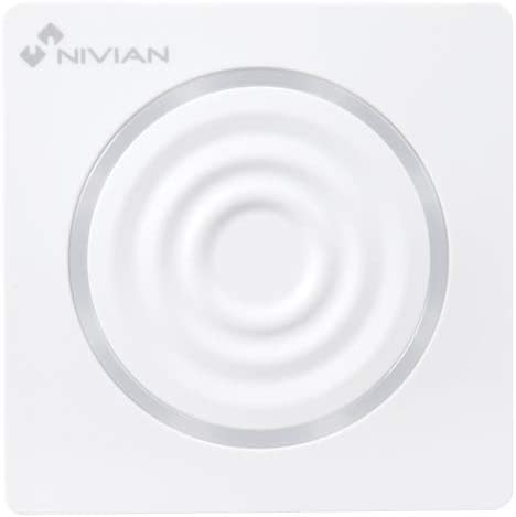 Sirena para Interior inal/ámbrica NIVIAN Smart NVS-S6B Bater/ía de Respaldo Compatible con Panel de Alarma Nivian Smart Luz de Aviso Alarma 90 dB