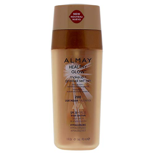 Almay Foundation - Almay Healthy Glow Makeup Plus Gradual Self Tan - 200 Light-medium By Almay for Women - 1 Oz Foundation, 1 Oz