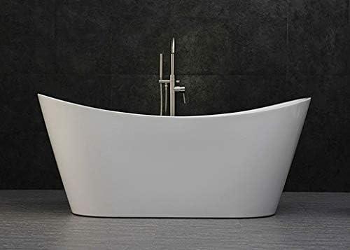 WOODBRIDGE B-0015 Acrylic Freestanding Bathtub Contemporary Soaking Tub