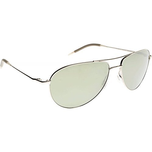 Oliver Peoples OV1002S Benedict Aviator Sunglasses 5036/5C Silver Mirrored - 59 Benedict Peoples Oliver