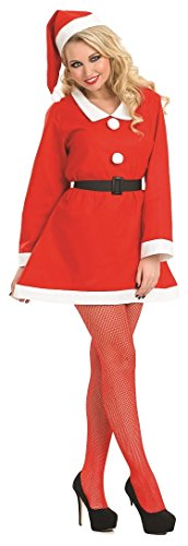 Ladies Sweetheart Santa Mrs Claus Xmas Christmas Festive Fancy Dress Costume Outfit UK 8-18 (UK -
