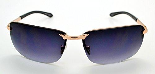 de classique Mode W Smoke Gold Lens microfibre soleil gratuit femme Lunettes qualité pour tendance Frame et homme Pour grande de Vox étui Hot vgOq5O