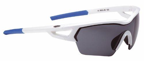 (PK) 2014 BBB Unisex BSG-36 Arriver Sport Glasses White Smk PC Lens Blue Tips